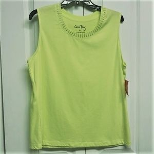 Coral Bay Tank Top Size XL Light Green NEW
